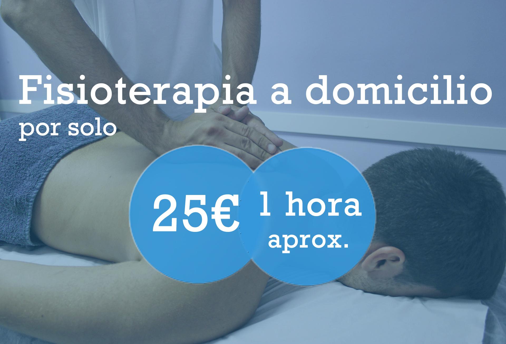 Fisioterapia a domicilio por solo 25€. Sesión de 1 hora aproximadamente.