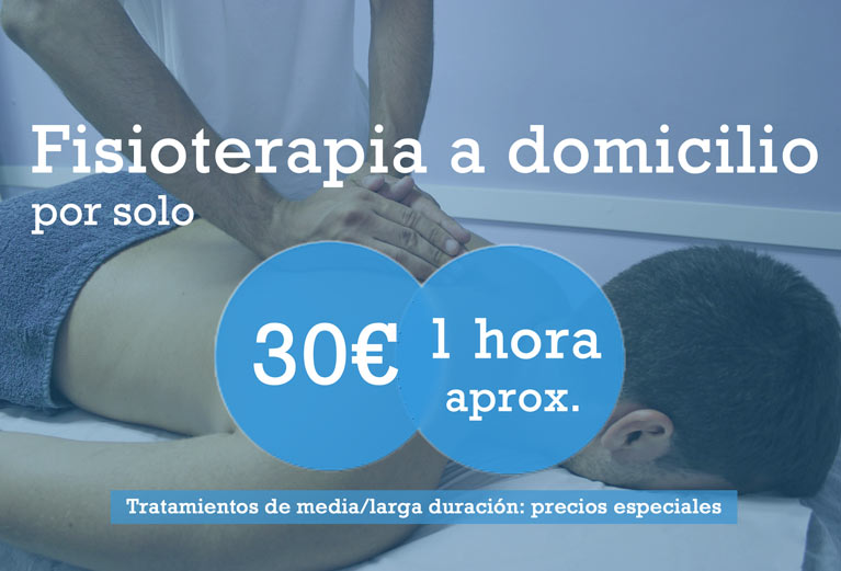 Servicio de fisioterapia a domicilio en Málaga por solo 30€. Sesión de 1 hora aproximadamente. Tratamientos de media/larga duración: precios especiales.